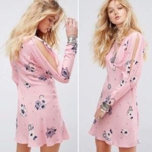Free People Combo Long Sleeve Floral Dress Size 4